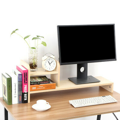 Desktop Organzier Monitor Stand LCD TV Laptop Rack Computer Screen Riser Shelf