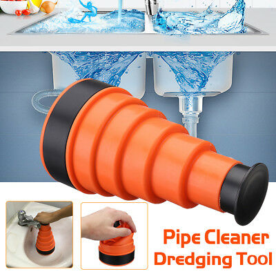 Clog Cannon Air Power Toilet Bath Sink Plunger Drain Blaster Cleaner Tool UK100%