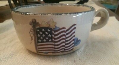 Home and Garden Party Retired Americana Soup Bowl/Mug.