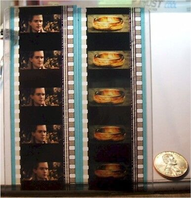 Lord of the Rings LOTR 5 Cell Film Strips, Legolas & The One Ring, Free Ship