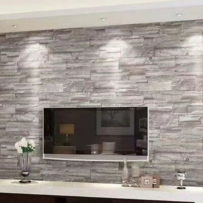 10M 3d Brick Pattern Brick Wallpaper Cafe bar Chinese Restaurant Clothing Store