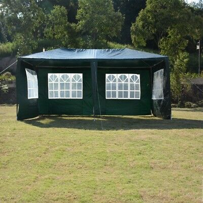 3M X 6M Garden Heavy Duty Waterproof Gazebo Marquee Party Tent W/4 Side Walls