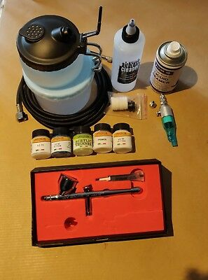 Iwata Revolution HP-CR Airbrush, with loads of accessories