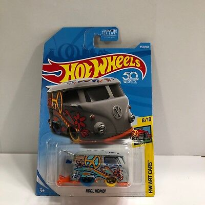 2018 Hot Wheels Volkswagen Kool Kombi Grey