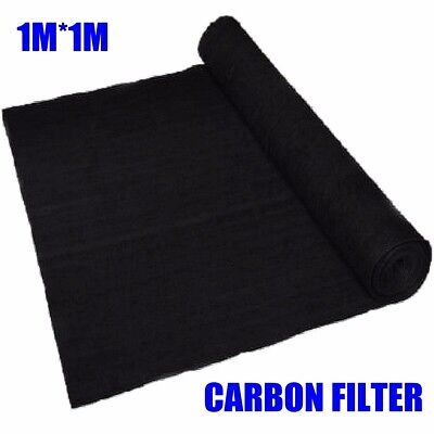 1-2x 1M Universal Activated Carbon Foam Sponge Air Impregnated Sheet Filter Pad