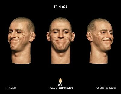 FacepoolFigure FP-H-002 Male Head Sculpt w/ Expression Happy 1/6 Fit Phicen Body
