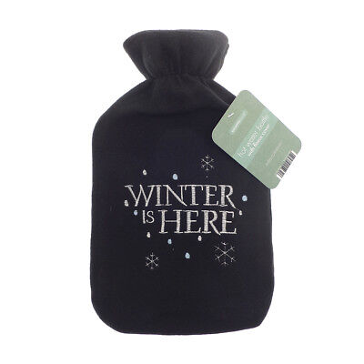 Country Club Fleece Hot Water Bottle, Winter is Here Winter Cosy Fun Warm Cover