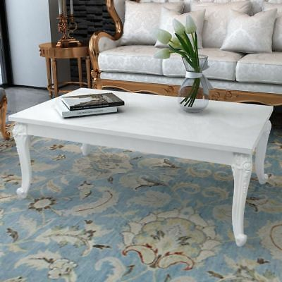 Coffee Table 120x70x42 cm High Gloss White Modern Home Furniture Living Room NEW