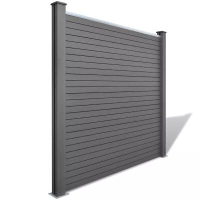 Garden Fence Panel WPC Grey Lawn Barrier Privacy Outdoor Yard Protection NEW