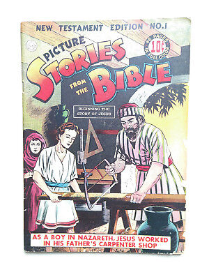 Picture Stories from the Bible New Testament 1 Golden Age EC Comic 1944