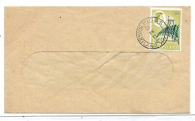 Swaziland 1968 Window Envelope Stamp Cancelled Piggs Peak/Swaziland Village Cds