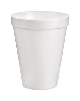 Dart® Insulated Foam Drinking Cups, White, 10 Oz, Case Of 1,000