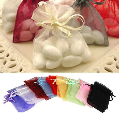 50Pcs Organza Jewelry Gifts Drawable Box Wedding Gift Candy Mini Pouch Bag Funny