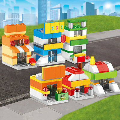 Self Locking Street View Series Fire Rescue Team Building Blocks Creative Egg x1