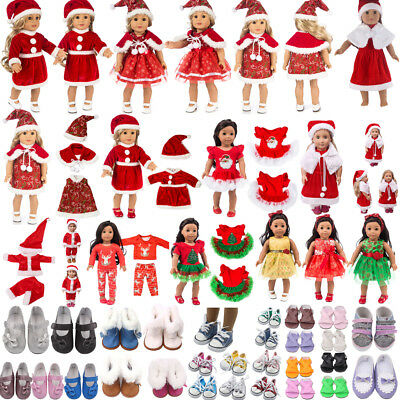 Christmas Clothes Dress Shoe For18''American Girl OurGeneration Journey Doll Lot