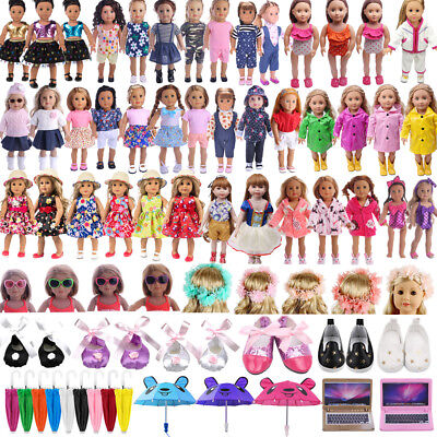 Clothes Pajames Shoes for American Girl 18inch Our Generation My Life Dolls Lot