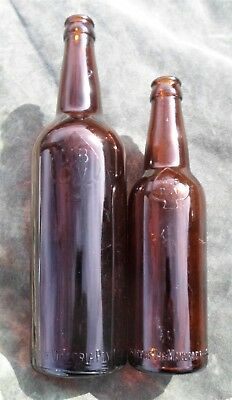 Small and Large 13 & 26 oz MBCV SPADE 1940s VICTORIAN Crown Seal BEERS VGC!