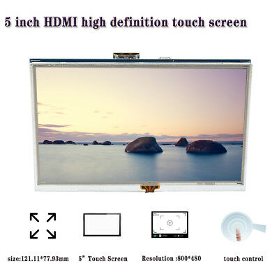 Touch screen LCD HDMI da 5 pollici per display Raspberry Pi 3 Monitor LCD HDMI