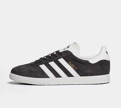 Mens Adidas Gazelle OG 85 Grey/White/Gold Trainers