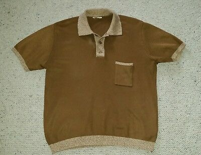 Genuine vintage machine knit men's two tone top sz M / L great condition 1970's