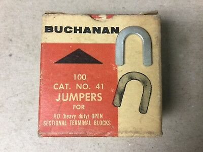 Buchanan 41 Jumpers For HD Open Sectional Terminal Blocks-Box of 80 New