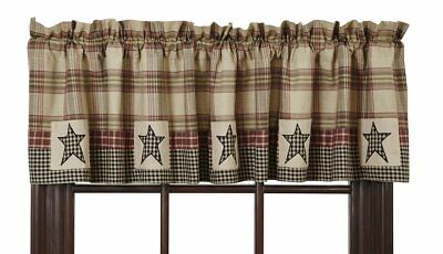 Farmhouse Country Primitive Plymouth Star Patchwork Valance 72X16