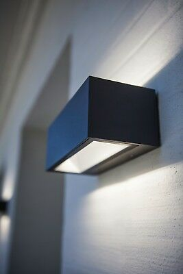 Aplique exterior LED doble direccion aluminio gris oscuro