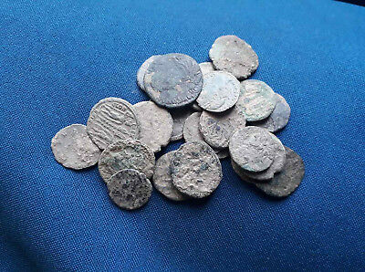 Lot of 23 Ancient Roman bronze coin