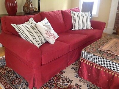 Pottery Barn Pb Basic Sofa Couch Slipcover 400 00 Picclick