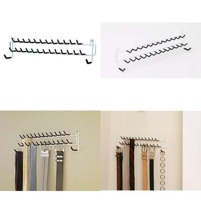 Tie And Belt Rack Storage Organizer Lightweight Tool Kit With Rubber Coated Tips