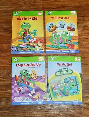 Leap Frog Tag Reader Books Lot Of 4 Consonants Vowels Euc