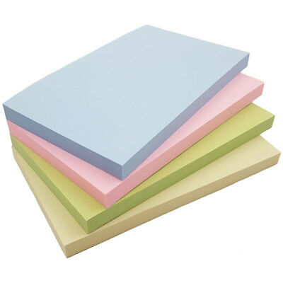 Pastel Removeable Sticky It Post Notes 127mm x 76mm 3 x 5 100 Sheets Per Pad