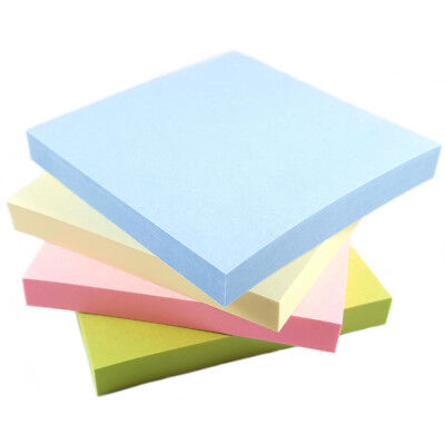 Pastel Removeable Sticky Post Notes 76mm x 76mm 3 x 3 100 Sheets Per Pad