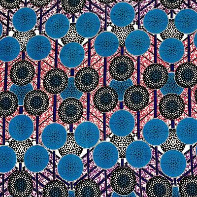 African Print Fabric 100% Cotton 44'' wide sold by the yard (90155-5)