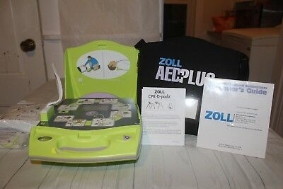 Zoll AED Plus Defibrillator NEVER USED with accessories and case