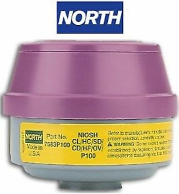 NORTH 7583P100 OV/AG P100 Stack Cartridge Respirator - ONE PACKAGE OF 2