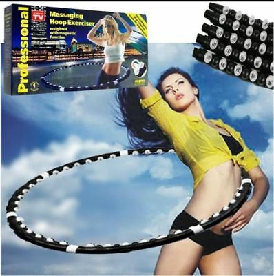 1x HULA HOOP PROFESSIONAL WEIGHTED MAGNETIC FITNESS EXERCISE MASSAGE ABS WORKOUT