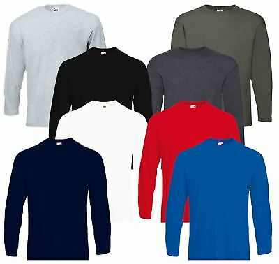 Fruit Of The Loom Mens Valueweight Plain Crew Neck T-Shirts 100% Cotton