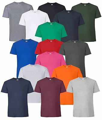 Fruit Of The Loom Mens Ringspun Premium Plain Crew Neck T-Shirt