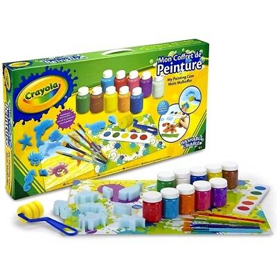 Crayola Painting Case for Kids - get creative with 10 washable paints!