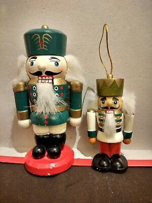 4 Small Wooden Nutcracker Soldiers