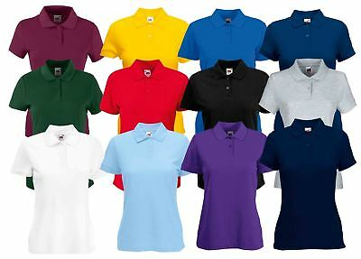 9b0409c55 LADIES WOMENS POLO T-Shirt Shirt Top Sport Lady-Fit Casual New FRUIT ...