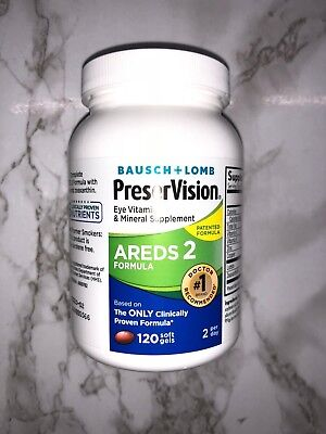PreserVision Areds 2 120 Softgels Bausch + Lomb  Eye Vitamin & Mineral NEW JAN20