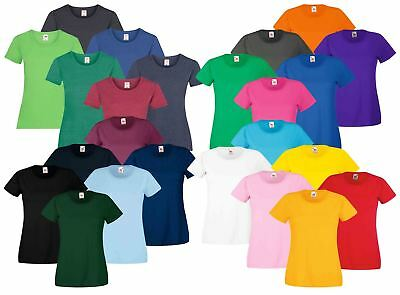 b9d7a1fb7 Fruit of the Loom Womens Lady-Fit T-Shirt Valueweight Plain Blank T Shirt