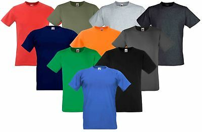 Fruit Of The Loom Mens Fitted Valueweight Plain Crew Neck T-Shirt