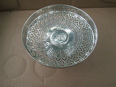 Antique TIFFANY & CO Makers .925 - 1000 STERLING SILVER Reticulated candy dish