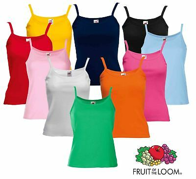 Fruit Of The Loom Ladies Lady-Fit Strap Plain Vests, Camisoles
