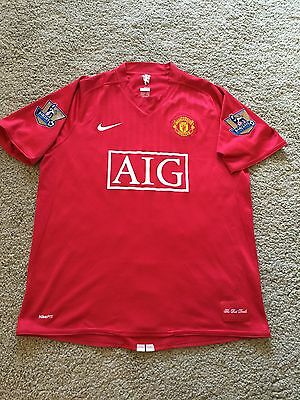 Manchester United Home Shirt 2008/09 Adults Large (L) Carrick 16 Jersey Nike
