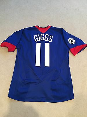 Manchester United Away Shirt 2005/06 Adults Large (L) Giggs 11 Vintage Jersey