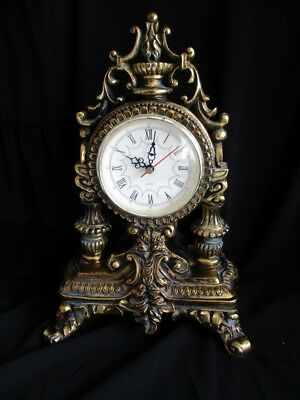 Vintage Gold Gilt Mantel Clock for spares or repair